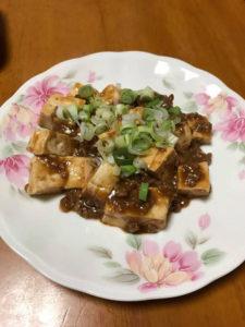 ばかたれ(味噌)の麻婆豆腐