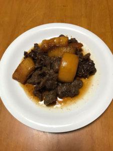牛スジ肉と冬瓜のばかたれ煮